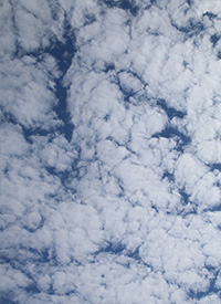 altocumulus cloud abstract